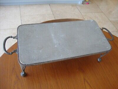 Antique Asprey Silver Plated Hot Plate Warming Stand