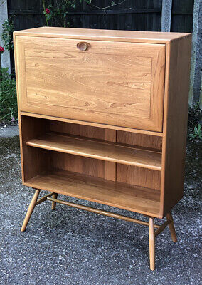 Very Rare Clean Ercol Bespoke Writing Bureau Desk/Cabinet  -  Delivery Available