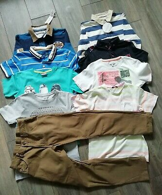 Boys clothes bundle 9-10 years t-shirts polo shirts trousers long sleeve tops 9