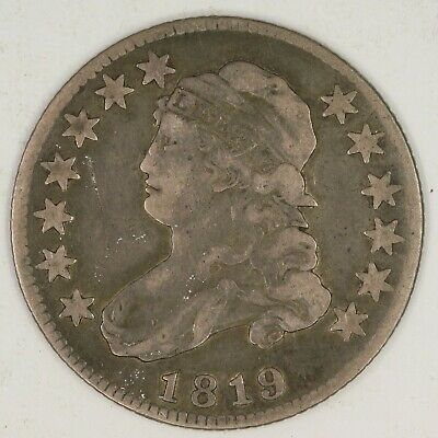 1819 Small 9, Capped Bust Quarter. Fine. RAW1990/BUS