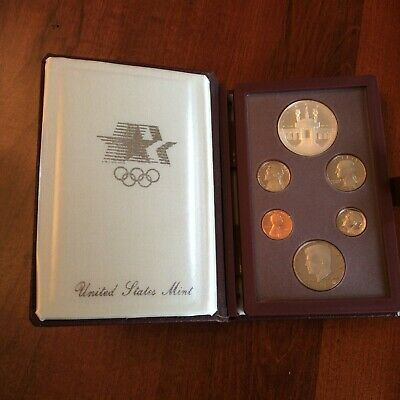 1984-S Prestige US Proof set with Olympic Silver Dollar in box
