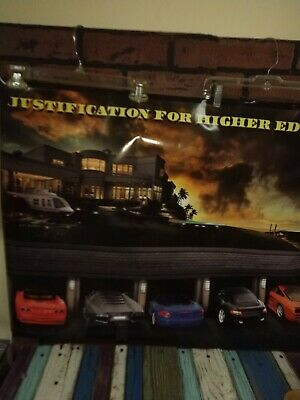 JUSTIFICATION FOR HIGHER EDUCATION - MOTIVATIONAL POSTER 24x36 - CLASSIC