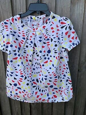 Bonpoint girls blouse top floral print cotton size 14 years