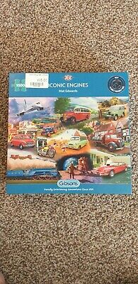 GIBSONS - Iconic Engines - 1000 Piece Jigsaw. Excellent Condition.