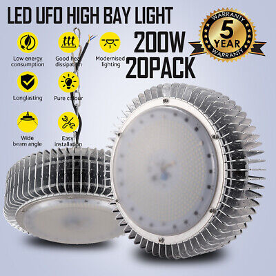 20x200W LED High Bay Light Warehouse Industrial Factory Lamp Commerce Shed Light