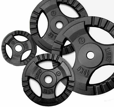 ⭐️1″ Cast Iron Tri-Grip Weight Lifting Plates Discs Weights 4 Barbell Dumbbells