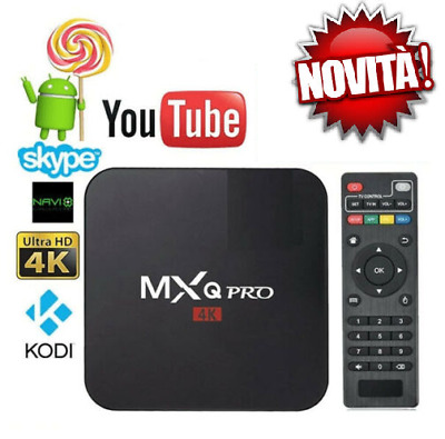Tv Box Android Iptv 4K Full4K 4Gb Ram 32Gb Quadcore Smart Decoder Wifi Mxq Pro