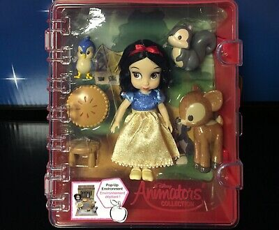 "Disney Store Animator Mini Doll Playset Snow White 5"" & Accessories NWT In Case"