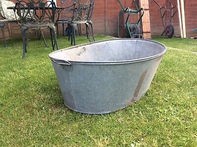 Antique Galvanised Tin Bath Tub
