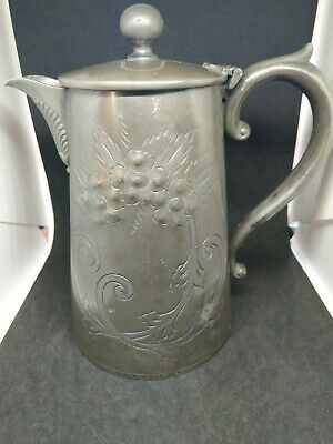 Silver plated hot water jug 1860's. (199)