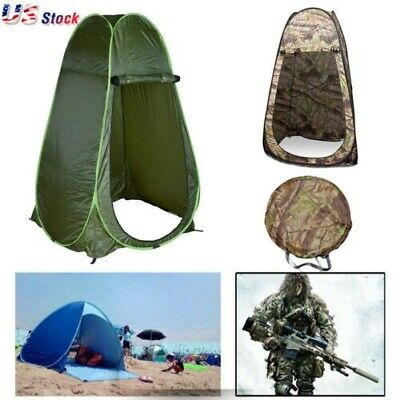 Portable Pop Up Tent Camping Beach Toilet Shower Changing Privacy Room w/Bag US