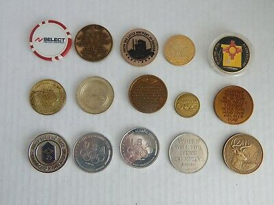Lot of 15 Tokens and Such