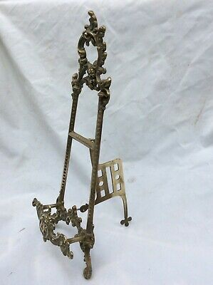 Ornate brass picture easel