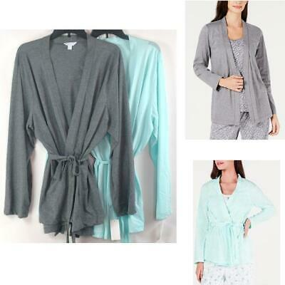 Charter Club Cotton Knit Pajama Cozy Wrap Opt Size & Color New Lounge Robe
