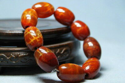 Collectable Agate Polishing Brown Beads Precious Elegant Noble Hand Catenary