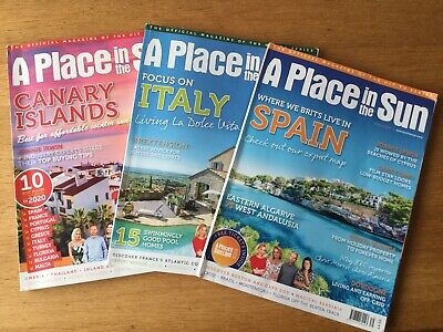 A Place In The Sun Magazine X3 Spain / Italy / Canary Islands