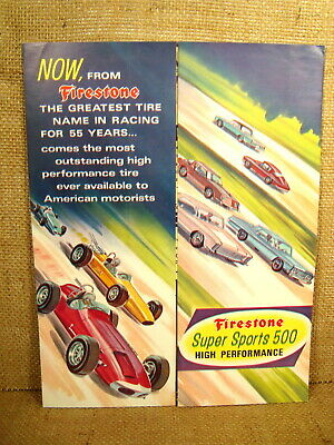 Vintage Firestone Super Sports 500 High Performance Advertisement A.J. Foyt