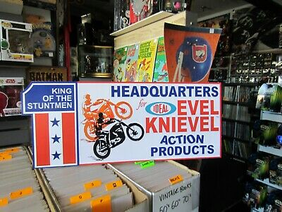 Evel Knievel Ideal Toys Store Display Repop Piece From Early 70'S