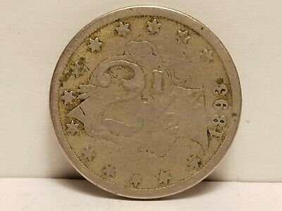 1893 Counter Struck 5c, The Front Shows 2 1/2, While The Back Has name & W. 10th
