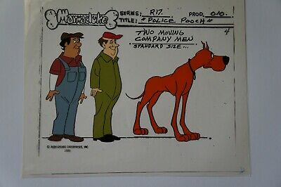 Marmaduke hand painted color model animation cel Ruby Spears 1981 great dane 1