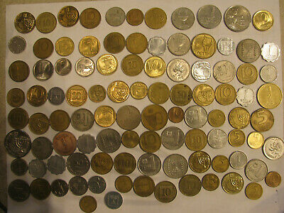 """100 Israel Coins """"Large Lot"""""""
