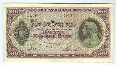 Hungary - 1945 - Lot of 7 Pengo Notes - all different denominations.