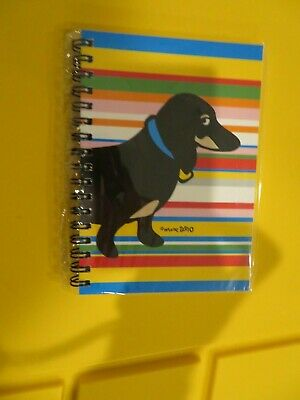 Marc Tetro Black and Tan Dachshund Spiral Hard Notebook New in Package