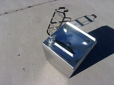 Stainless Steel Water Drinking Fountain Vintage Wall Mount MAN CAVE !!!