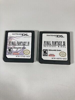 NINTENDO DS LOT OF 2 - FINAL FANTASY IV, FINAL FANTASY XII Excellent Condition