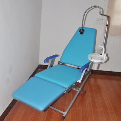 Portable Dental Mobile Folding Chair Unit Flushing Water Supply System+LED Light