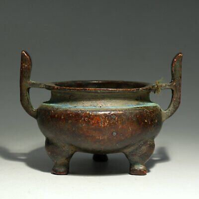 Collectable Chinese Old Red Copper Hand-Carved Delicate Unique Precious Censer