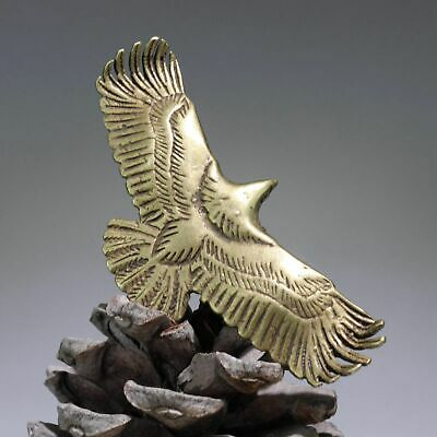 Collect Chinese Old Bronze Hand-Carved Fierce Eagle Delicate Decorate Pendant