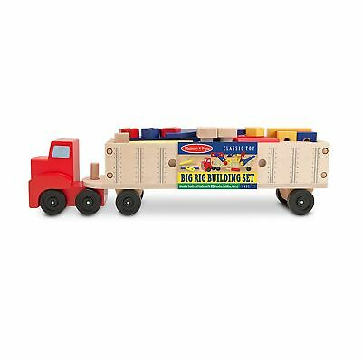 Melissa & Doug Big Rig Building Set Tan, Yellow, Blue