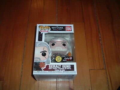 Funko Pop! Geralt (Igni) #554~ Gamestop Exclusive~ Mint~ The Witcher~ Glows~
