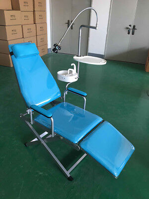 Dental Folding Chair LED Light&Tray&Flushing System&Water Supply System Portable