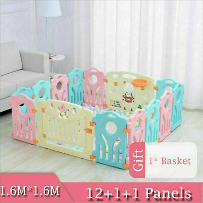 14 Sides Large Foldable Plastic Baby Playpen & Educational Functions Room Yard