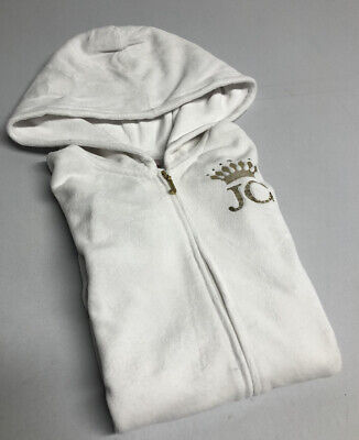 ☀️🔥Genuine 🔥☀️ GIRLS LADIES VELOUR JUICY COUTURE HOODIE Track Jacket XS