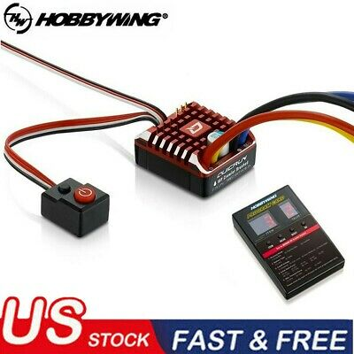 Hobbywing QuicRun 1080 Waterproof Brushed 80A ESC + Program Card For RC Car US