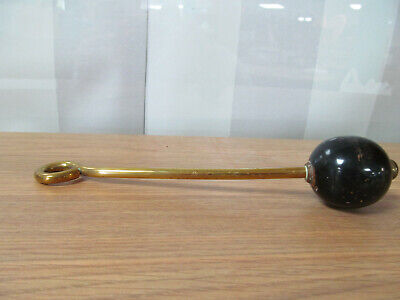 Vintage Brass Toilet Pull Flush Handle With Wooden Ball