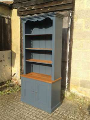 Pine and Painted Bookcase Dresser with cupboard