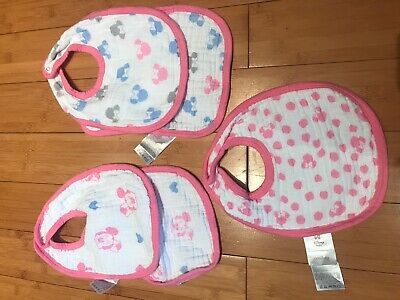 Disney Minnie Mouse Pink Girl Baby Bibs