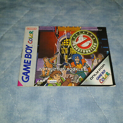 Libretto Manuale Extreme Ghostbusters Nintendo Gameboy Game Boy Color Gb Gbc