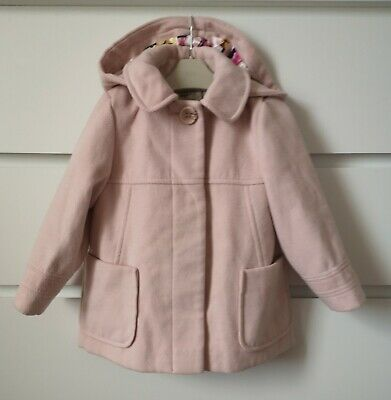 NEXT___light pink duffle coat jacket girl age 2-3 yrs VGC