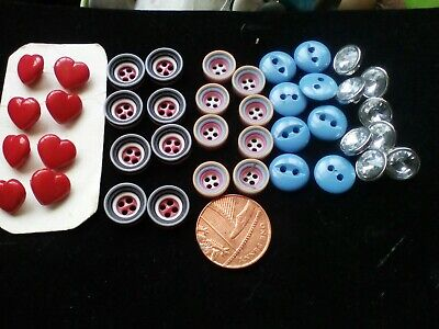 Vintage small  buttons craft / sewing 40 buttons