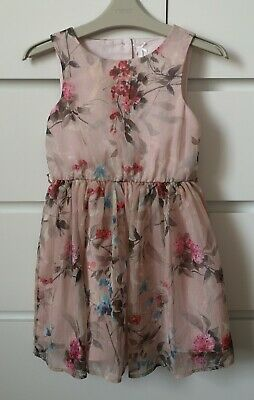 NEXT___pink floral party dress girl age 6 yrs VGC