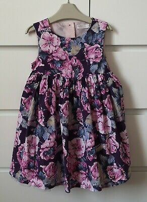 M&Co___purple floral party dress girl age 2-3 yrs VGC