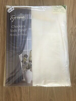 Tyrone Cream Checked Voile Panel 150cm Wide
