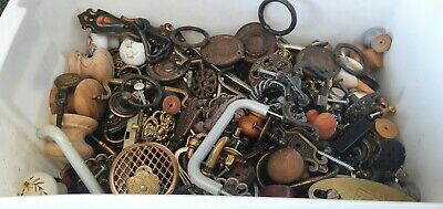 Large Collection Of Vintage Cupboard Drawer Cabinet Handles And Fittings Etc