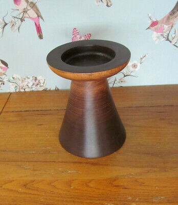 Amber Wood Pyramid Large Candle Holder by The Range