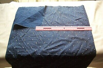 Antique VTG Late 1800's Early 1900's Cotton Quilt Dress Fabric Navy Blue & White